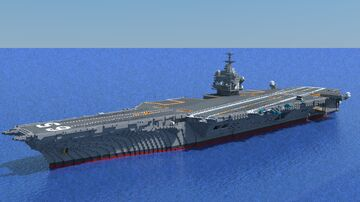 USS Enterprise CVN-65 Scale 1:1 Minecraft Map & Project
