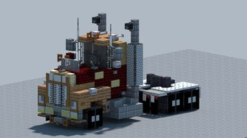 Mack R Model truck [With Download] Minecraft Map & Project