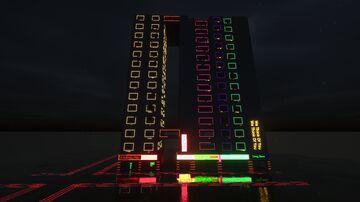 Start of little tiles cyberpunk city(video link) Minecraft Map & Project