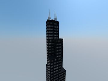 Willis Tower, Chicago, United States Of America Minecraft Map & Project