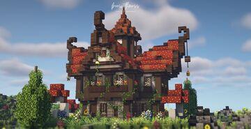 Fantasy mushroom house 🌿🌼🍄 Minecraft Map & Project