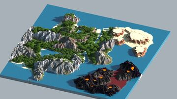 Arcenis - 2.5k x 2.5k Custom Island Terrain (FOR SALE) Minecraft Map & Project