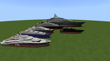 Comparison to my Mega Yacht 367 going 400 in length Minecraft Map & Project