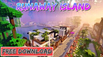 RunAway Island *Tropical* (Apartments Map) 1.14.4+ Minecraft Map & Project