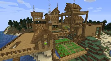 Oceanside  woodland Village Minecraft Map & Project