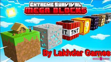 Extreme survival mega Blocke For Pc And Pe بلوكات عملاقة للجوال و البيسي Minecraft Map & Project