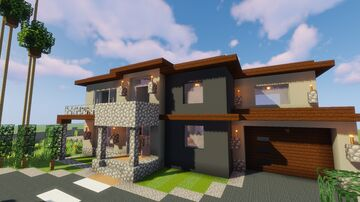Modern House #49 (Map + Schematic) Minecraft Map & Project