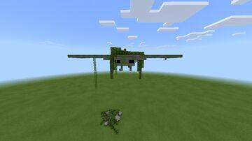 Phantom Statue (With Broken Elytra Pixel Art) Minecraft Map & Project