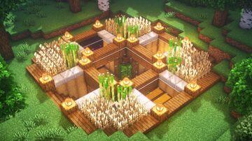 Underground survival base Minecraft Map & Project