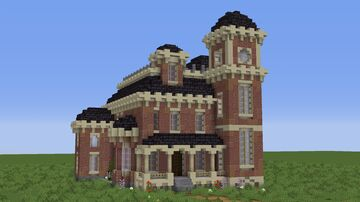 brick mansion Minecraft Map & Project