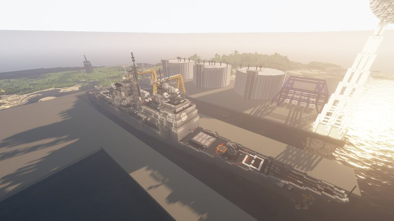 The naval base