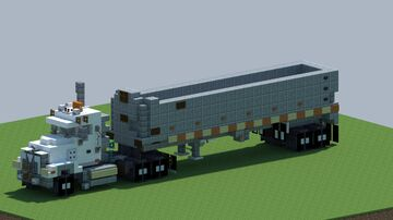 Mack Granite, and frameless dump trailer [With Download] Minecraft Map & Project