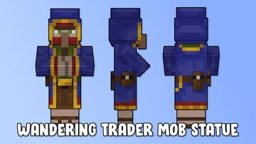Wandering Trader Mob Statue Minecraft Map & Project