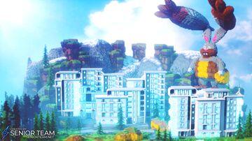 Futuristic Spawn Minecraft Map & Project
