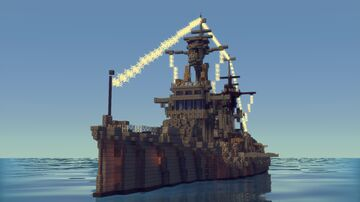 A Battle ship (Without Schematic file-Now yet) Minecraft Map & Project