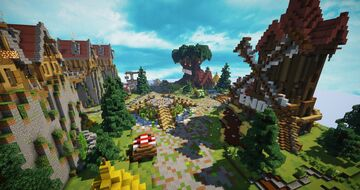 HCF Spawn + Road - Medieval Theme [Free Download] Minecraft Map & Project