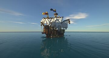 """Medieval Ship Barck/ Bardse """"Seewolf"""" Minecraft Map & Project"""