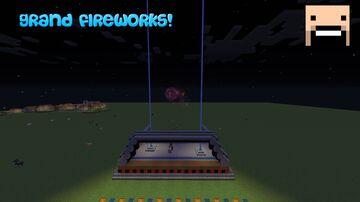 Grand Minecraft Firework SHOW! Minecraft Map & Project