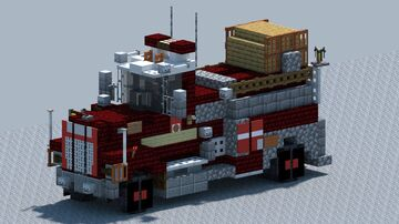 Mack R model, Fire hose truck [With Download] Minecraft Map & Project
