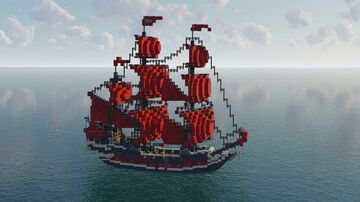 Queen Anne's Revenge (1:1 scale) Minecraft Map & Project