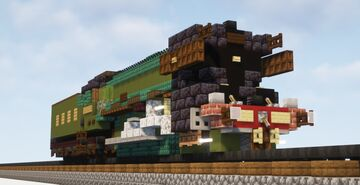 1.5:1 Scale LNER Class A3 4472 Flying Scotsman Steam Locomotive Minecraft Map & Project