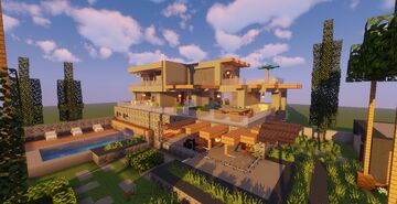 Modern House #50  (Map + Schematic) Minecraft Map & Project