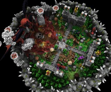 🌟EXCLUSIVE🌟 DARKNESS LOBBY 4 PORTALS Minecraft Map & Project
