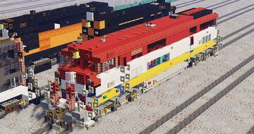 GE Dash 8-40CM (BC Rail) Minecraft Map & Project