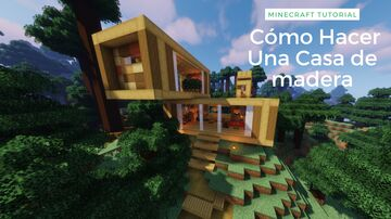 Minecraft | How To Make A Modern Wooden House In The Forest 🌲 Minecraft Map & Project