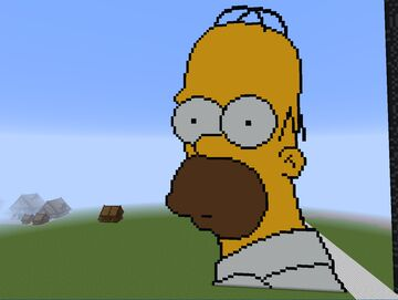 Homer Simpson Minecraft Map & Project