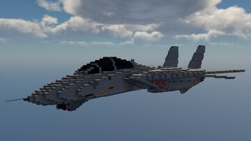 F-14 Tomcat (5:1 Scale) Minecraft Map & Project