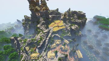 Kingdom in a Mountain (All Decorated) Minecraft Map & Project