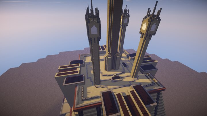 Birdview of the Jedi Temple roof
