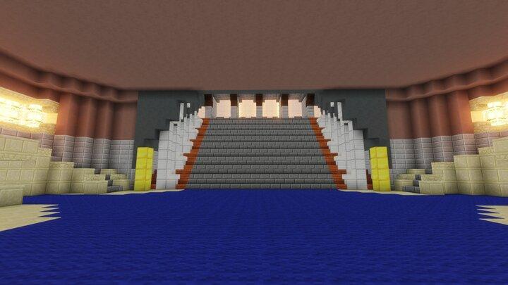 The beautiful Jedi Temple Veranda