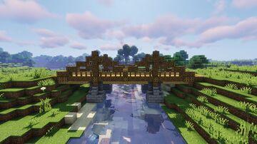 Wooden Suspension Bridge Schematic (Litematica) Minecraft Map & Project