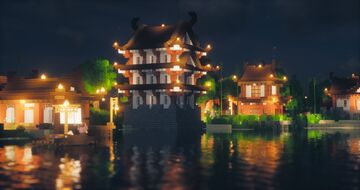 Atarashi   Japanese themed Minecraft Village   Builder's Forge Minecraft Map & Project