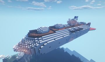 Movecraft Air Battleship - Richelieu-class Battleship Minecraft Map & Project
