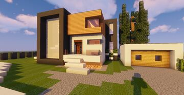 Modern House #51 (Map + Schematic) Minecraft Map & Project