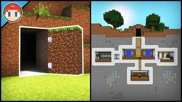 Hidden bas in a Hidden base Minecraft Map & Project
