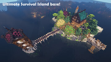 Ultimate Survival Island Base Minecraft Map & Project
