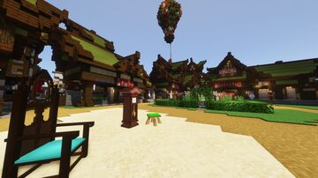 CraftCitizen Survival - Redyeable Furniture & 3D Models for your house! Minecraft Map & Project