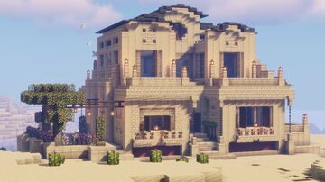 Floridian Sand Stone Mansion Minecraft Map & Project