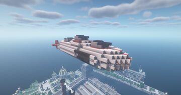 Silver Empire Adv. Light Cruiser  ( Airship   Silver Empire   Movecraft Compatible ) Minecraft Map & Project