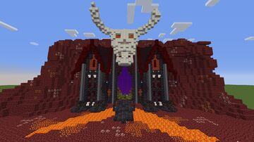 Nether castle with skull Minecraft Map & Project