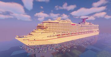 Carnival Sunrise Cruise Ship Replica - Full Interior Minecraft Map & Project