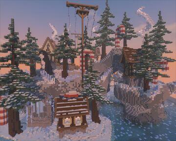 ❄️WINTER HUB❄️ Minecraft Map & Project