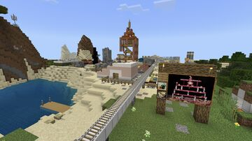 """Donk City (""""a48AAL3UCwA="""") [3/4 Restored Worlds Preservation Project] {Tested on 1.17.40} Minecraft Map & Project"""