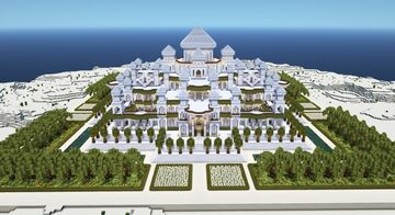 Presidential Ultra Modern Mughal Marble Palace Minecraft Map & Project