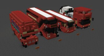 London Buses 4 Pack [DOWNLOAD] Minecraft Map & Project