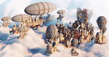 The Steampunk City | Aderlyon Build Team Minecraft Map & Project
